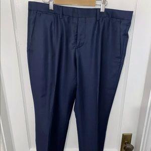 Express Photographer Navy Blue Suit Pants